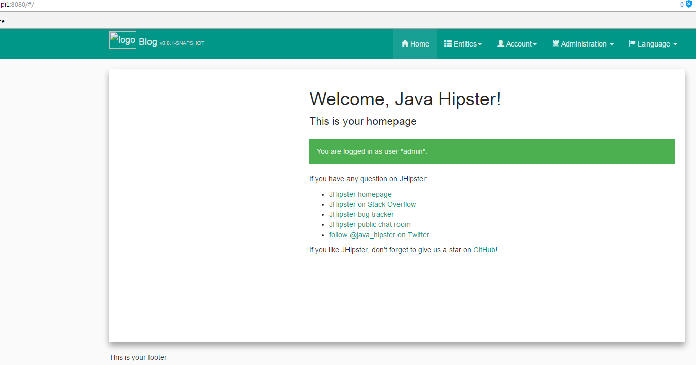 Jhipster my Raspberry Pi!